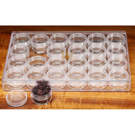 Hareline Large 24-Piece Screw Cap Containers In Box Set
