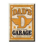 Desperate Enterprises Dads Garage Ice Box Magnet