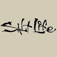 Salt Life Signature Medium Decal - Black
