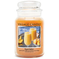 Village Candle Large Glass Jar Candle - Peach Bellini