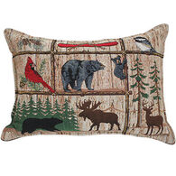 """Paine Products 10"""" x 14"""" Lodge Canoe Tapestry Balsam Pillow"""