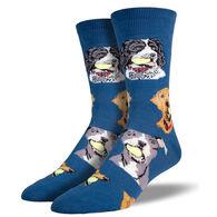 Socksmith Design Men's Ball Dog Crew Sock