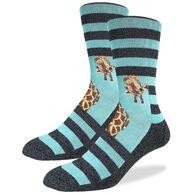 Good Luck Sock Men's Giraffe Crew Sock
