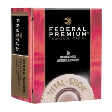 Federal Premium Vital-Shok 44 Remington Magnum 225 Grain Barnes Expander Handgun Ammo (20)