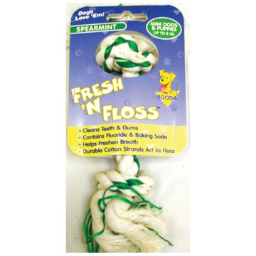 Booda Fresh n Floss 2-Knot Rope Bone Mini Dog & Puppy Toy