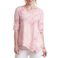 Habitat Women's Diagonal Hem Vee 3/4-Sleeve Shirt