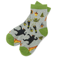 Hatley Boy's Little Blue House Retro Camping Crew Sock