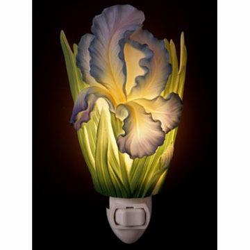Ibis & Orchid Design Blue Bearded Iris Nightlight