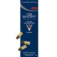CCI CB 22 Short 29 Grain Low Noise LRN Ammo (100)