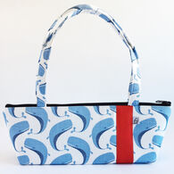 Little Man Women's Whales Print Tomboy Zippered Fabric Handbag