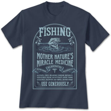 Earth Sun Moon Trading Mens Fishing Cure Short-Sleeve T-Shirt