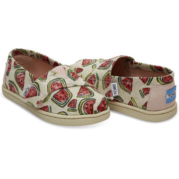 TOMS Toddler Girls Tiny Alpargata Slip-On Shoe
