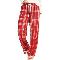 Hatley Little Blue House Women's Festive Plaid Lounge Pajama Pant