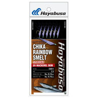 Hayabusa Sabiki EX011 Chika Rainbow Smelt UV Mackeral Skin Fishing Rig
