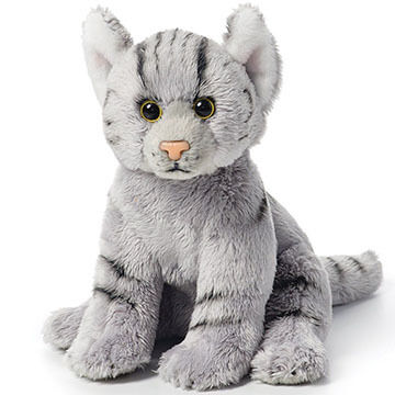 Nat & Jules Grey Tabby Cat Beanbag Stuffed Animal