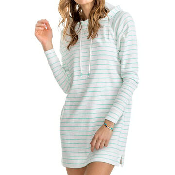 Southern Tide Womens Ocean Front Striped Tunic Hoodie