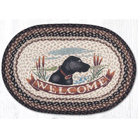 Capitol Earth Braided Oval Welcome Dog Rug