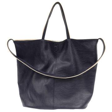 Joy Susan Womens Riley Reversible Slouchy Hobo Handbag