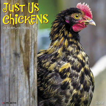 Willow Creek Press Just Us Chickens 2018 Wall Calendar