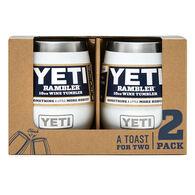YETI Rambler 10 oz. Stainless Steel Vacuum Insulated Wine Tumbler - 2 Pk.