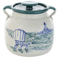 Great Bay Pottery Handmade Ceramic Large Bean Pot - 3qt.