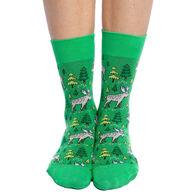 Good Luck Sock Women's Moose in the Forest Crew Sock