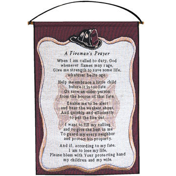 Manual Woodworkers & Weavers A Fireman's Prayer Wall Hanging