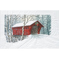 Pumpernickel Press Red Covered Bridge Deluxe Boxed Greeting Cards