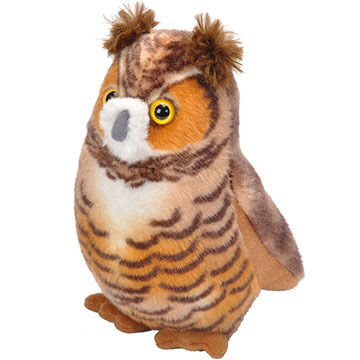 Wild Republic Audubon Stuffed Animal - Great Horned Owl