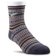 Woolrich Men's Aloe Vera Patterned Crew Sock