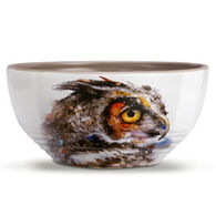 Big Sky Carvers Owl Looking Back Soup Bowl