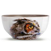 Big Sky Carvers Owl Looking Back Soup Bowl