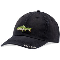 Life is Good Men's Fish Stitch Sunwashed Chill Cap