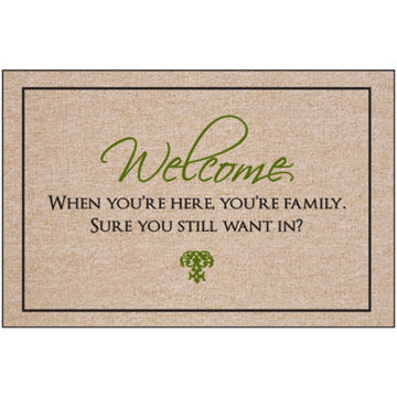 High Cotton Doormat - You're Family