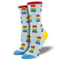 Socksmith Design Women's Gay Pops Crew Sock