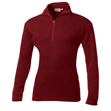 Minus 33 Womens Midweight Quarter Length Zip Top