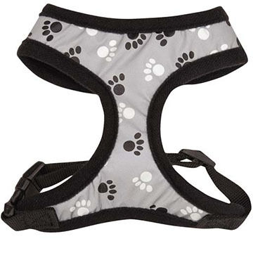 Casual Canine Reflective Pawprint Dog Harness