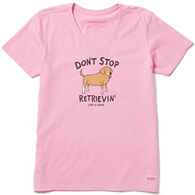 Life is Good Women's Don't Stop Retrievin' Crusher Vee Short-Sleeve T-Shirt