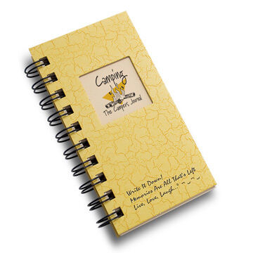 "Journals Unlimited ""Write it Down!"" Mini-Size Camping Journal -Gold"