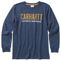 Carhartt Boy's Heather Graphic Long-Sleeve Shirt