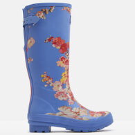 Joules Women's Wellie Printed Rain Boot w/Adjustable Back Gusset