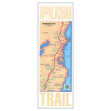 Appalachian Trail Map on a Blaze Magnet