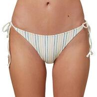 O'Neill Women's Bridget Stripe Side Tie Bikini Bottom