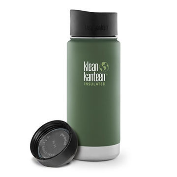 Klean Kanteen Vacuum Insulated Wide 16 oz. Stainless Steel Bottle w/ Cafe Cap 2.0