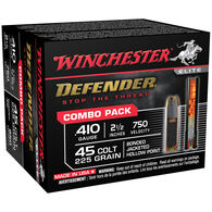 Winchester Defender 410 GA / 45 Colt 225 Grain Bonded JHP Ammo Combo Pack (20)