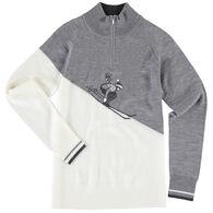 Krimson Klover Women's Rosi Zip Pullover Merino Wool Sweater