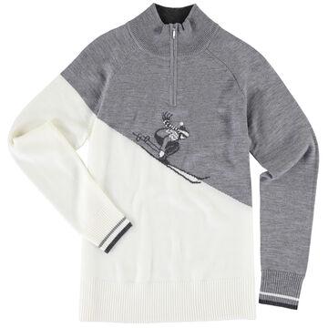 Krimson Klover Womens Rosi Zip Pullover Merino Wool Sweater