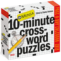 Mensa 10-Minute Crossword Puzzles 2019 Page-A-Day Calendar by Stanley Newman