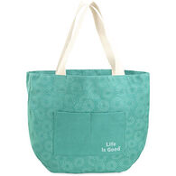 Life is Good Women's Bright Teal Around Town Tote