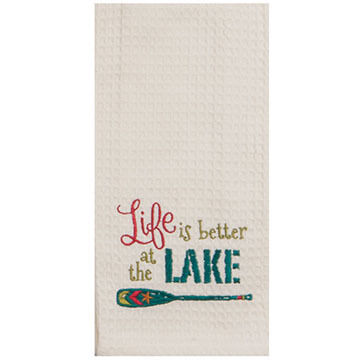 Kay Dee Designs Life Is Better Embroidered Waffle Towel